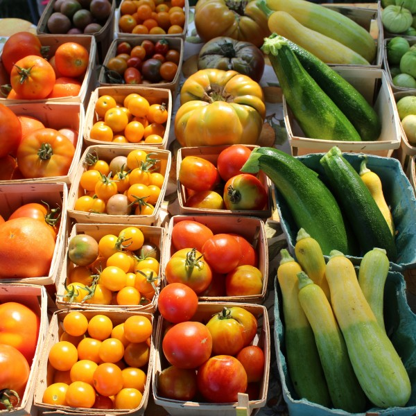 Order a mixed bag of seasonal local produce purveyed by My Grow Connect growers (no pesticides or herbicides).